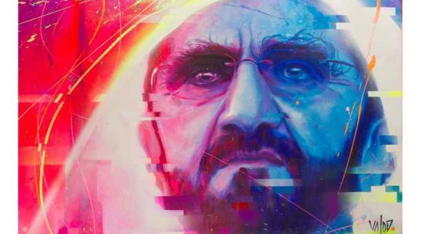 El artista plástico Carlos Valdez participó en la feria internacional World Art Dubai con una selección de sus mejores obras. Foto: Cortesía Carlos Valdez