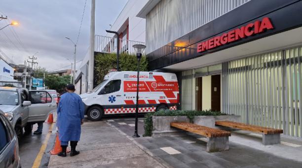 La clínica Santa Inés, de Cuenca, recibe más pacientes con covid-19 de otras ciudades que de la capital azuaya. Foto: Lineidas Castillo /EL COMERCIO