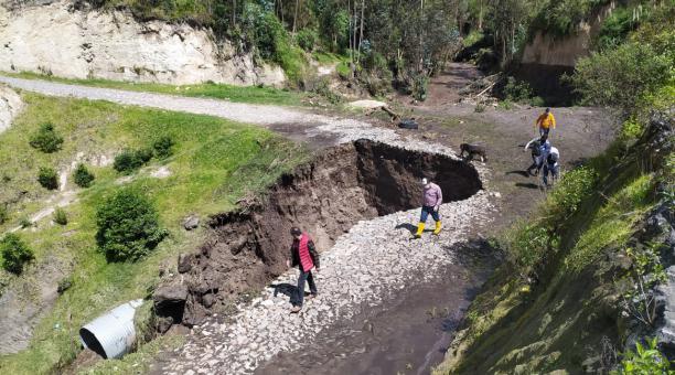 Sector de El Morro, a pocos metros del puente de Rumichaca, que enlaza a Ecuador con Colombia. Javier Montalvo/ para El Comercio