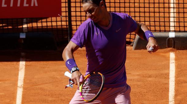 Rafael Nadal celebró su triunfo en la Caja Mágica. Foto: EFE