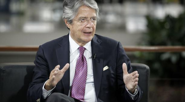El presidente electo Guillermo Lasso durante una entrevista con EL COMERCIO el miércoles 5 de mayo del 2021. Foto: Patricio Terán / El Comercio