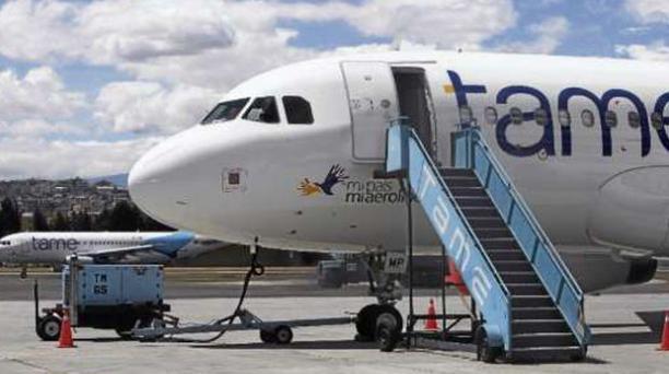 La flota aérea de Tame.    La aerolínea estatal cuenta con un activo de 13  aviones para cubrir  las 15 rutas internas  y cuatro externas.