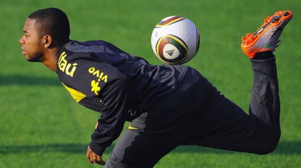 Robinho, jugador de Brasil. Foto: Archivo/EL COMERCIO