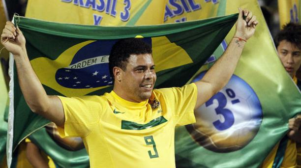 Ronaldo Nazario de Lima, ex futbolista de la Selección brasileña de fútbol. AFP