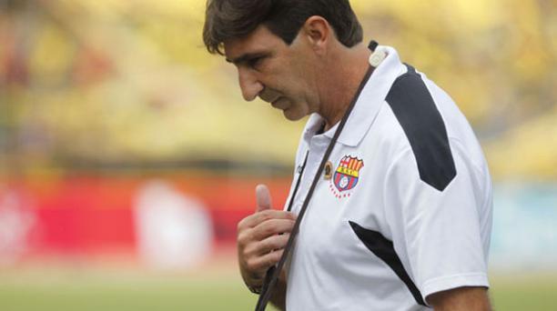 Gustavo Costas, director técnico de Barcelona Sporting Club. Foto: Paúl Rivas/EL COMERCIO