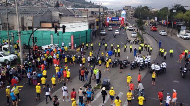 Largada de la Quito Últimas Noticias 15K