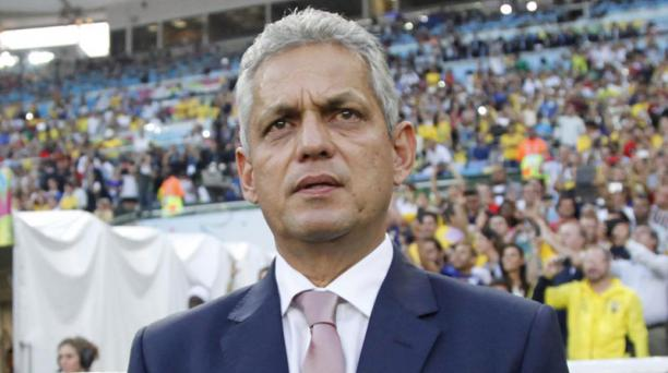 El entrenador de la Selección ecuatoriana Reinaldo Rueda durante el partido de Ecuador vs Francia. Foto: ´Patricio Terán/El Comercio