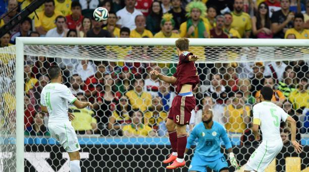 Alexander Kokorin anotó el primer gol ruso ante Argelia. Foto: AFP