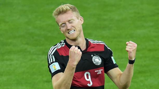Andre Schuerrle celebra el sexto gol de Alemania ante Brasil. Foto: AFP