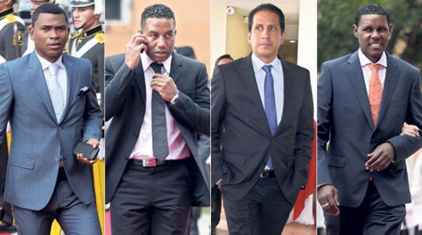 Iván Hurtado, Ulises de la Cruz, José Francisco Cevallos y Agustín Delgado.