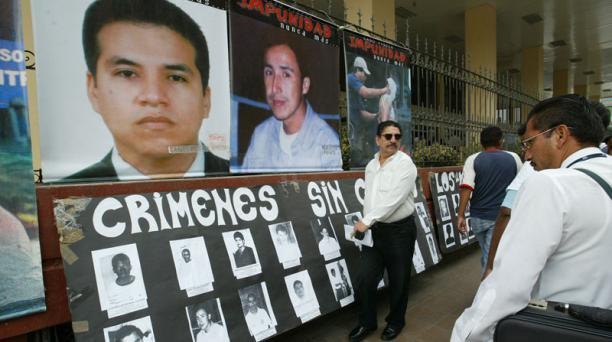 Protestas por el caso Las Dolores, en el 2004. Foto: Archivo