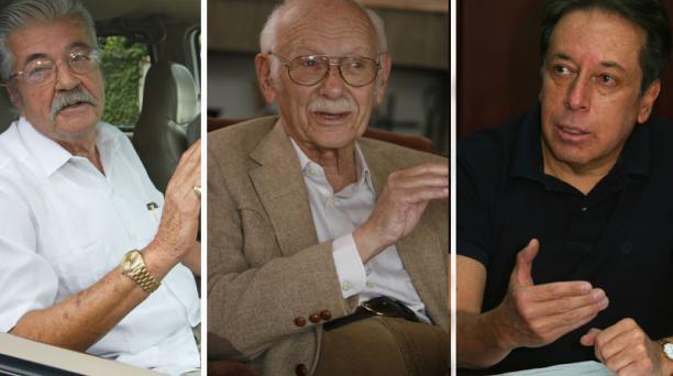 Los expresidentes León Febres Cordero, Sicto Durán Ballén y Fabián Alarcón convocaron a una consulta popular. Foto: Archivo/ EL COMERCIO
