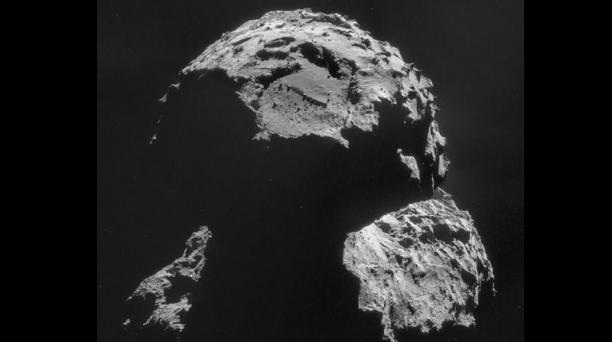 Agilka, el punto de aterrizaje de Rosetta es el lugar menos accidentado del cometa 67P/ Churyumov-Gerasimenko.Foto: AFP.