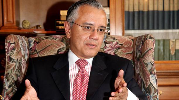 Alexis Mera, secretario Jurídico de la Presidencia, durante entrevista con El Comercio.