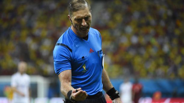 El árbitro argentino Nestor Pitana. Foto: AFP