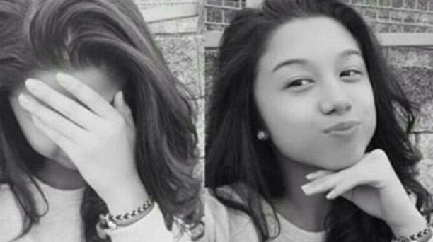 zabel Laxamana tenía 13 años cuando se quitó la vida. El suceso ocurrió poco después de que su padre le cortara el cabello. El video se difundió en las redes después de la muerte de la adolescente. Foto: Twitter. 