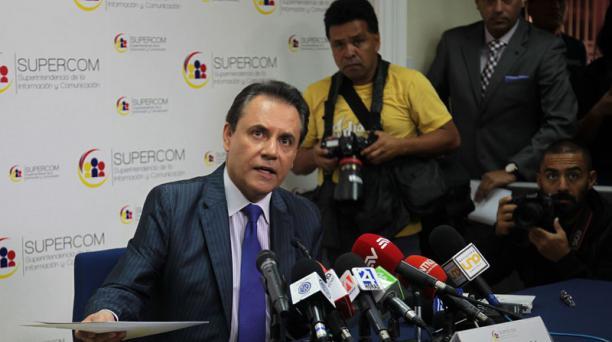 Carlos  Ochoa, superintendente de la Supercom. Foto: Eduardo Terán / El Comercio/