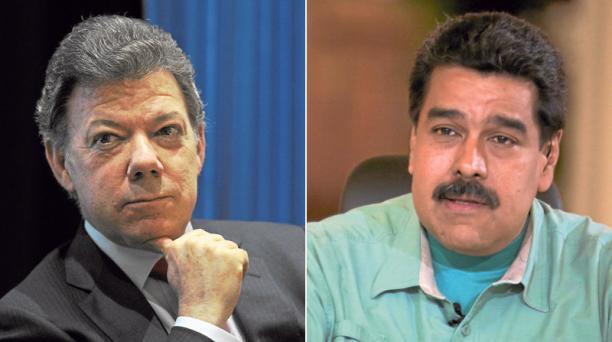 Juan Manuel Santos y Nicolás Maduro. Fotos: Agencias