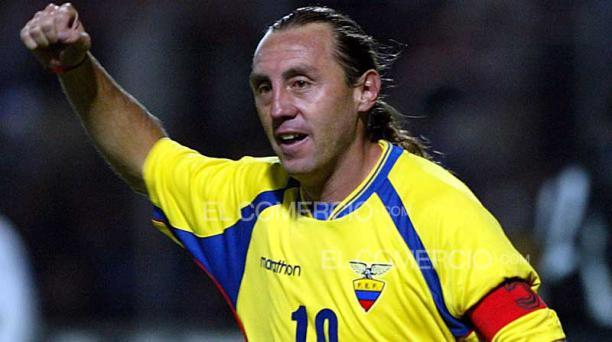 Álex Aguinaga jugó 109 partidos con la Selección de Ecuador. Foto: Archivo / EL COMERCIO