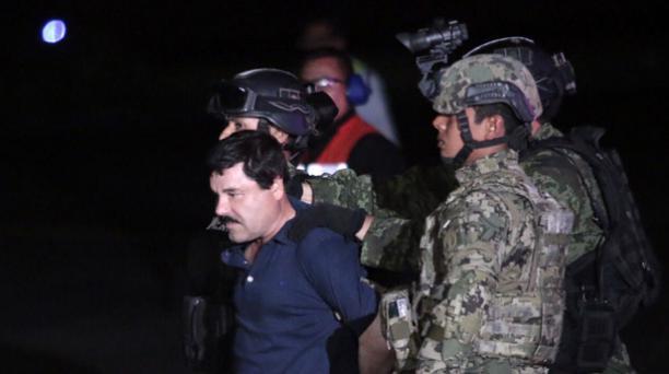 Recaptura del capo Joaquín 'el Chapo' Guzmán, el 8 de enero del 2016. Foto: AFP