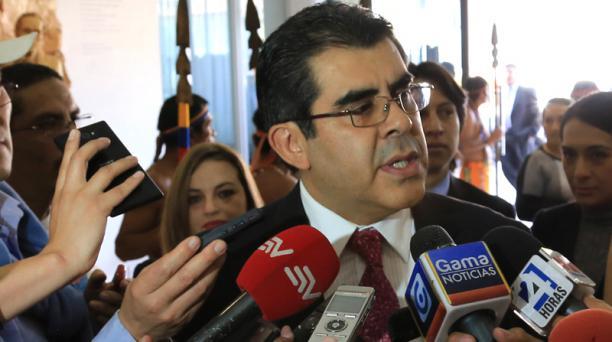 El rector de la Universidad Andina, César Montaño, destacó con optimismo la reunión que mantuvo con el CES. Foto: Archivo/ EL COMERCIO