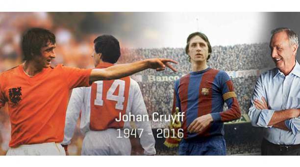Este 24 de marzo del 2016 falleció Johan Cruyff. Foto: Tomada de la cuenta de Twitter de Johan Cruyff