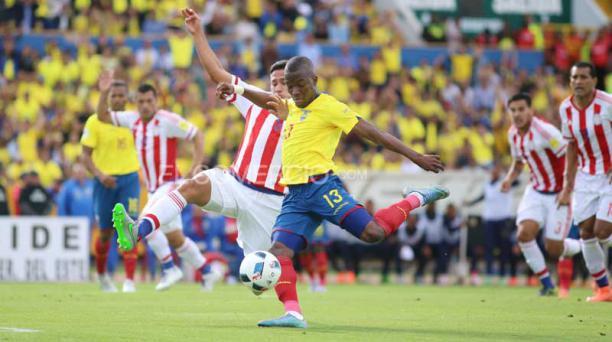 Enner Valencia anotó el 1-0 para Ecuador ante Paraguay. Foto: Diego Pallero/ EL COMERCIO