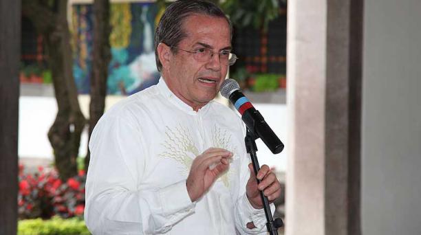 El Ministro de Defensa señaló que él no participará directamente en los diálogos, pero sí habrá delegados del Gobierno ecuatoriano. Foto: Pavel Calahorrano / EL COMERCIO
