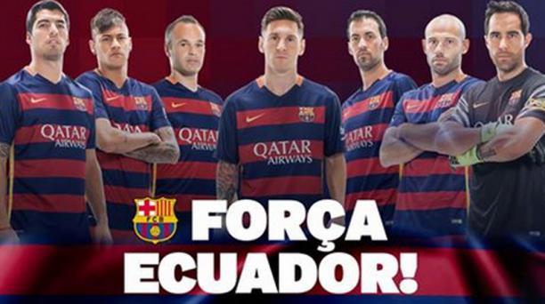 Imagen tomada del perfil de Facebook del FC Barcelona.
