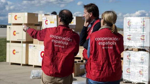 La Agencia Española de Cooperación envió 12,5 toneladas de insumos. Foto: Cortesía Agencia Española de cooperación