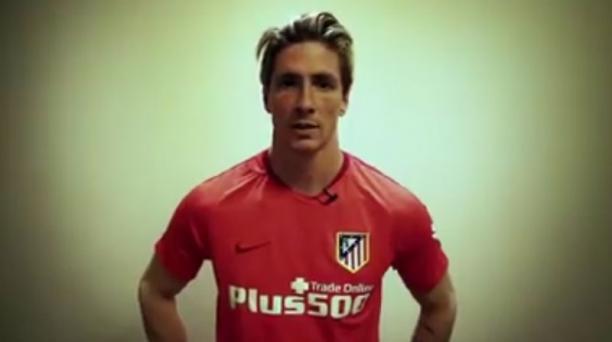 Imagen de Fernando Torres tomada del perfil oficial de Facebook del Atlético de Madrid