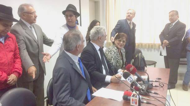 El Bloque Legislativo Democrático está integrado por exasambleístas de AP, Avanza, Pachacutik y PRE. Foto: EL COMERCIO