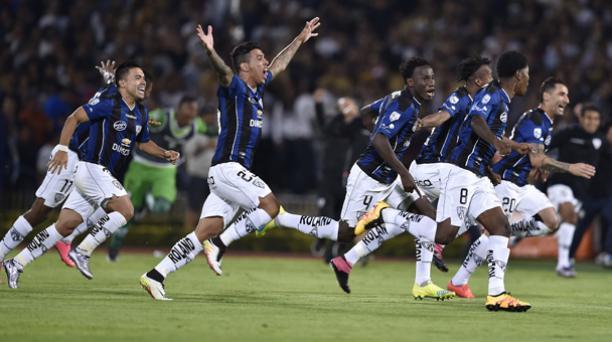 Con solo siete años en la primera categoría del fútbol ecuatoriano, Independiente del Valle es uno de los cuatro mejores equipos de América. Foto: AFP.