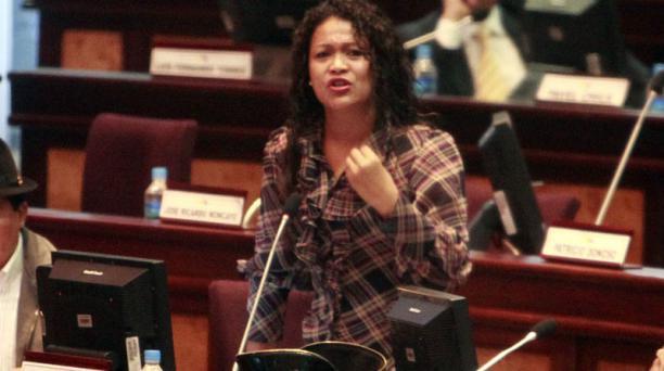 La asambleista Magali Orellana, en la Asamblea Nacional. Foto: Paul Rivas