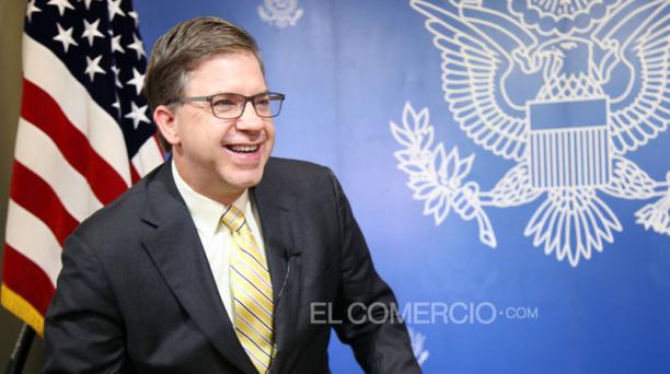 Todd C. Chapman, embajador de Estados Unidos en Ecuador, habló sobre el partido de cuartos de final de la Copa América entre su país y la Selección de Ecuador. Foto: Pavel Calahorrano / EL COMERCIO