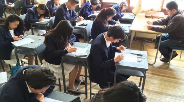 Los alumnos de la Sierra y Amazonía comenzaron a rendir supletorios desde hoy.  Foto: EL COMERCIO