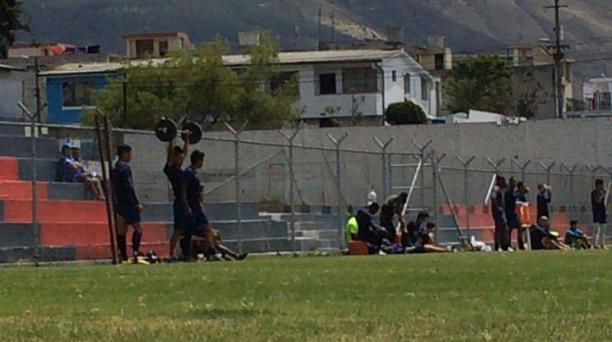 Jugadores del Deportivo Quito en el entrenamiento del 3 de agosto del 2016. Foto: David Paredes/ EL COMERCIO