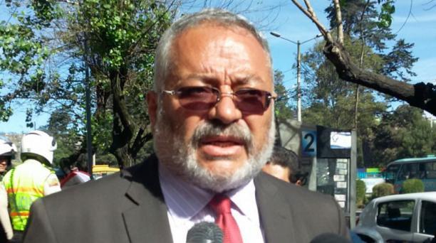 Jorge Acosta es el abogado defensor de Javier Baquerizo Zambrano. Foto: Eduardo Terán / EL COMERCIO