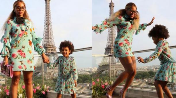 Beyoncé y su hija Blue utilizan vestidos de la marca Gucci. Foto: Archivo
