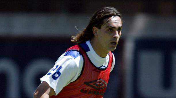 Carlos Alberto Juárez. durante un entrenamiento con Liga de Quito en el 2004