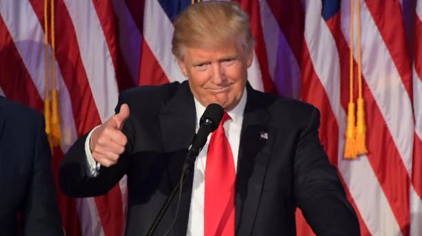 En reiteradas ocasiones, Donald Trump, elegido presidente de los Estados Unidos, ha explicado que no cree que el cambio climático sea real. Foto: AFP.