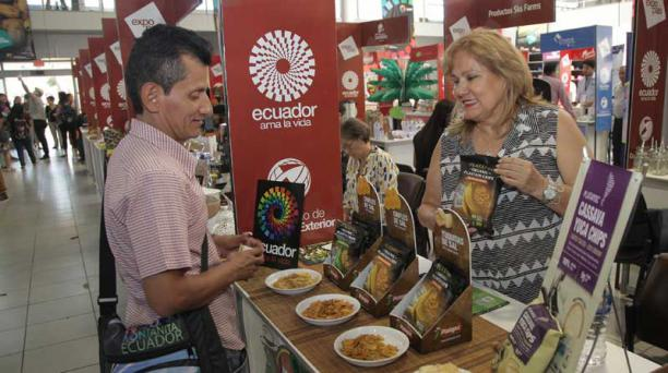 mario faustos / el comercio La firma Platayuc exporta a Europa desde hace tres años. Esta se mostró hace unos días en una feria en Guayaquil.