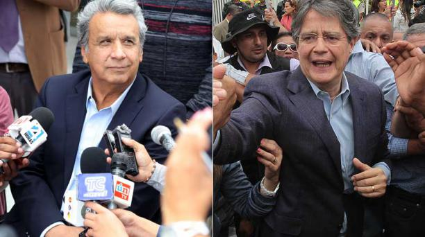 Lenín Moreno y Guillermo Lasso. Fotos: Archivo EL COMERCIO