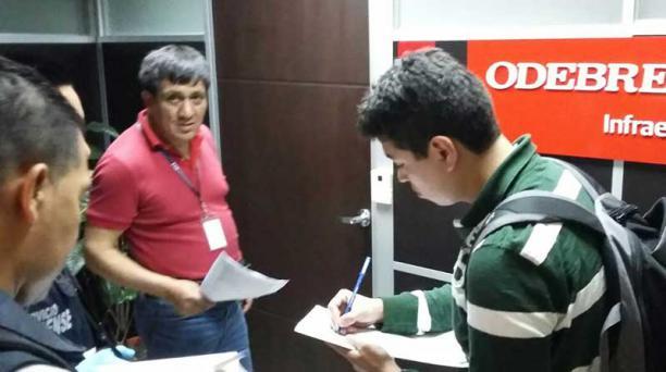 FOTO: FISCALÍA El 23 de diciembre pasado, la Fiscalía allanó las oficinas de Odebrecht en Guayaquil.