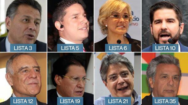Candidatos presidenciales a las elecciones del 2017. Foto: EL COMERCIO