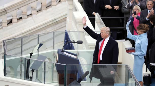 Durante su discurso, Donald Trump ofreció unir el país y erradicar el terrorismo radical. Foto: AFP