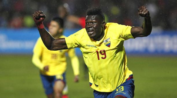 Jordy Caicedo fue el autor del gol de la victoria tricolor. Foto: Vicente Costales / EL COMERCIO