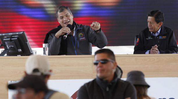 El presidente, Rafael Correa, durante el Enlace Ciudadano 511 este 4 de febrero del 2017 en el sur de Quito