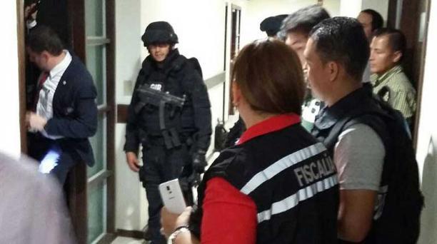 El 22 de diciembre pasado, la Fiscalía allanó las oficinas de Odebrecht en Guayaquil. Foto: cortesía Fiscalía
