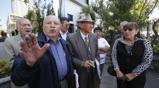 Otro gremio de jubilados pidió remover a funcionarios que eliminaron deuda del Estado. Foto: Paúl Rivas/ EL COMERCIO